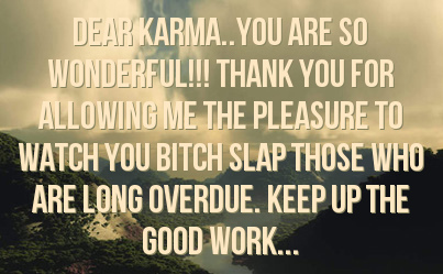 Facebook Statuses About Karma